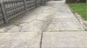 Some settlement to the paving, resulting in some cracking and unevenness