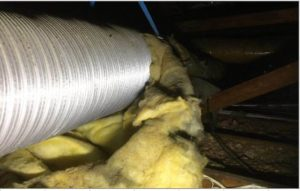 Insulation of ducting has come away from ducts in areas