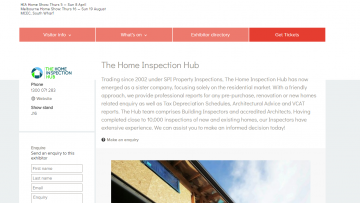 Visit The Home Inspection Hub at the HIA Home Show